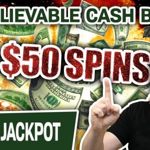 🎆 UNBELIEVABLE Cash BURST From a $50 SPIN! 🤑 Handpay Jackpot Playing High-Limit Slots