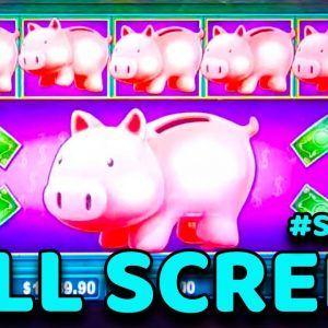 $100/BET in VEGAS Wins My BIGGEST JACKPOT EVER on Piggy Bankin'! #Shorts