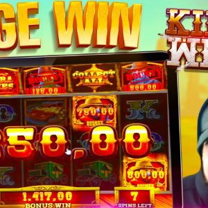 BIG WIN ON BLUEPRINTS NEW KING OF THE WEST SLOT!