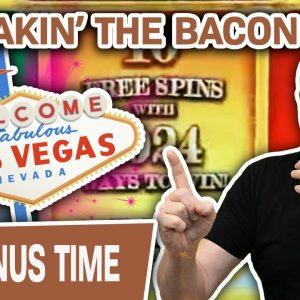 🥓 I'm RAKIN' the BACON in VEGAS 🌟 HUGE Slot Spins at THE COSMOPOLITAN of LAS VEGAS