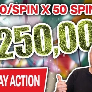 🔴 BIGGEST HIGH-LIMIT SLOT PLAY on YOUTUBE 💥 $250,000 at $5,000/Spin LIVE at Cosmo!