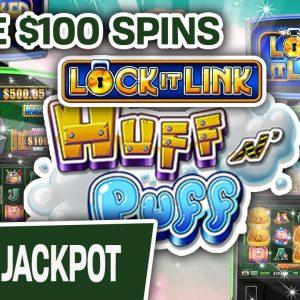 💯 HUNDRED DOLLAR SPINS Lead to MASSIVE JACKPOT 🧡 LOVIN' Lock It Link: Huff N' Puff in VEGAS