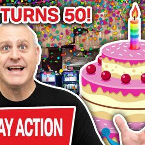 🔴 MEGA MILESTONE: Raja Turns 50, LIVE at The Cosmo LAS VEGAS 🎂 HUGE Slot Celebration