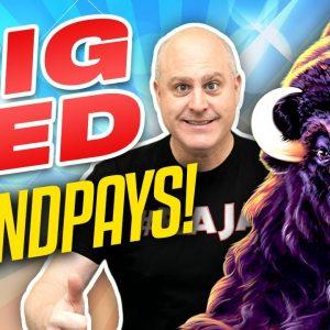 🦘 Big Jackpot Wins on Big Red 🦘 High Limit Aristocrat Slots + Buffalo Gold Bonuses!