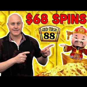 🧨 High Limit $68 Spins on Gold Stacks 888 🧨 Jackpot Bonus Progressive Jackpot Win!