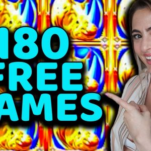 180 FREE GAMES at $40/SPIN on Rhino Charge in Las Vegas!