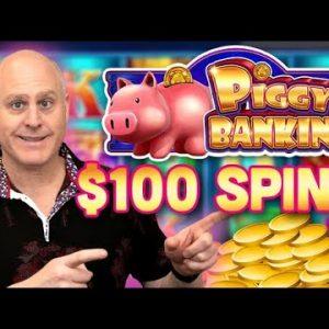 🐷 $100 Piggy Bankin Spins 🐷 High Limit Cosmopolitan of Las Vegas Jackpots