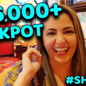 $20/SPIN LANDS an UNBELIEVABLE $16,000+ JACKPOT on CLEO 2 in VEGAS! #SHORTS