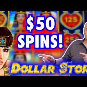 🔺 High Limit Dollar Storm Egyptian Jewels & Queen of The Nile Slots 🔺 Max Bet Bonus Round Jackpot