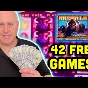 🐂 BUFFFFALOOO! 🐂 42 Free Games Jackpot on Buffalo Deluxe 🐂 $50 Spins in Colorado