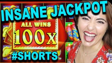 LANDED 100X FULLSCREEN & INSANE HANDPAY JACKPOT! #SHORTS #JACKPOT