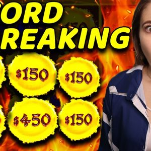 RECORD BREAKING 6 HANDPAY JACKPOTS on High Limit DRAGON CASH!