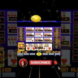 2 ROYAL FLUSHES on $200/BET on Video #Poker in LAS VEGAS #shorts