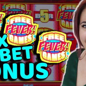 FINALLY!! MAX BET Bonus on Quick Hit Fever at Cosmo Las Vegas!