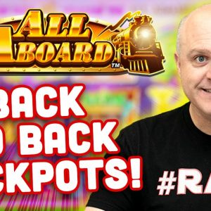 🚂 Back 2 Back All Aboard Jackpots 🚂 Epic Wins on Piggy Pennies - Konami Slots