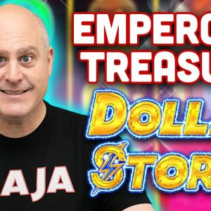 ⛵ High Limit Dollar Storm Slots ⛵ Emperor's Treasure Progressive Jackpot Winner!