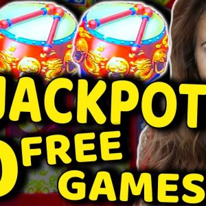 RECORD BREAKING 20 GAMES HITS MASSIVE JACKPOT ON DANCING DRUMS!